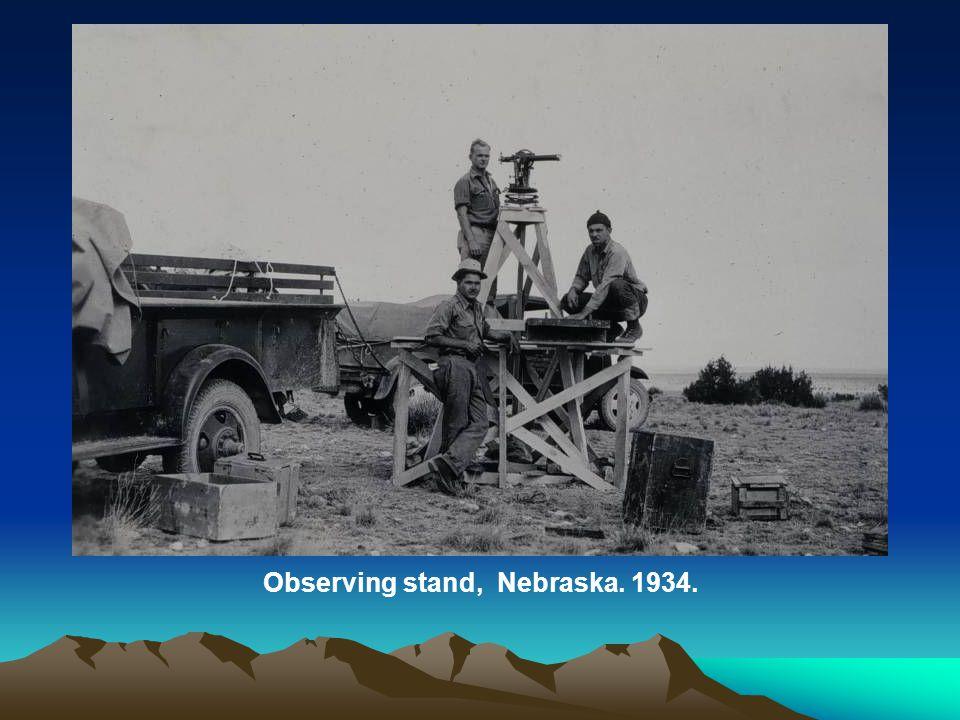 Observing stand, Nebraska. 1934.
