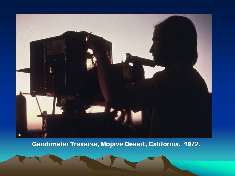 Geodimeter Traverse, Mojave Desert, California. 1972.