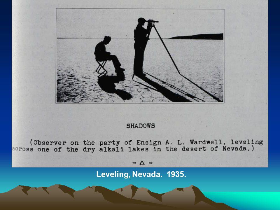 Leveling, Nevada. 1935.