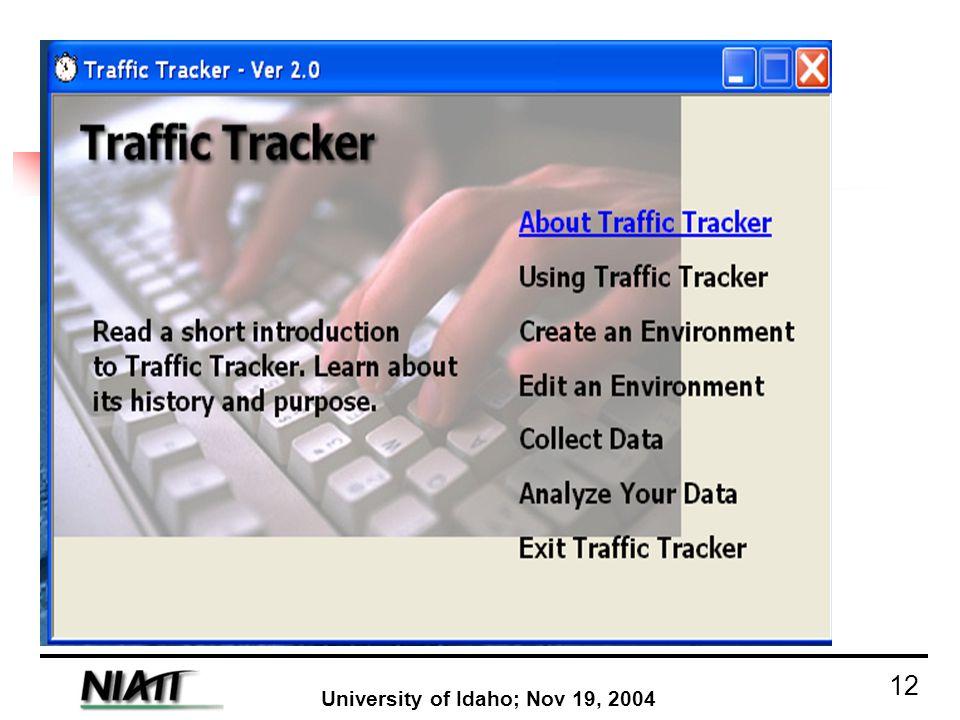 University of Idaho; Nov 19, 2004 12