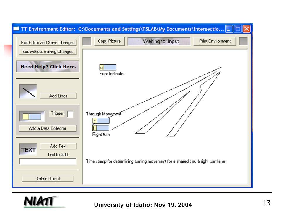 University of Idaho; Nov 19, 2004 13