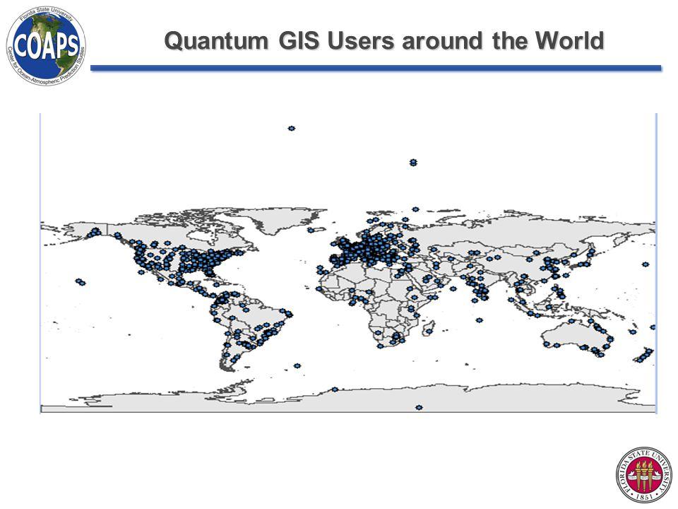 Quantum GIS Users around the World
