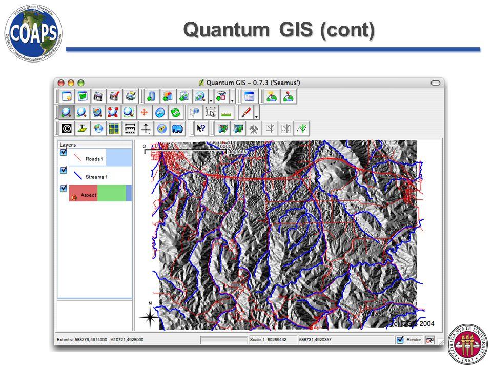 Quantum GIS (cont)