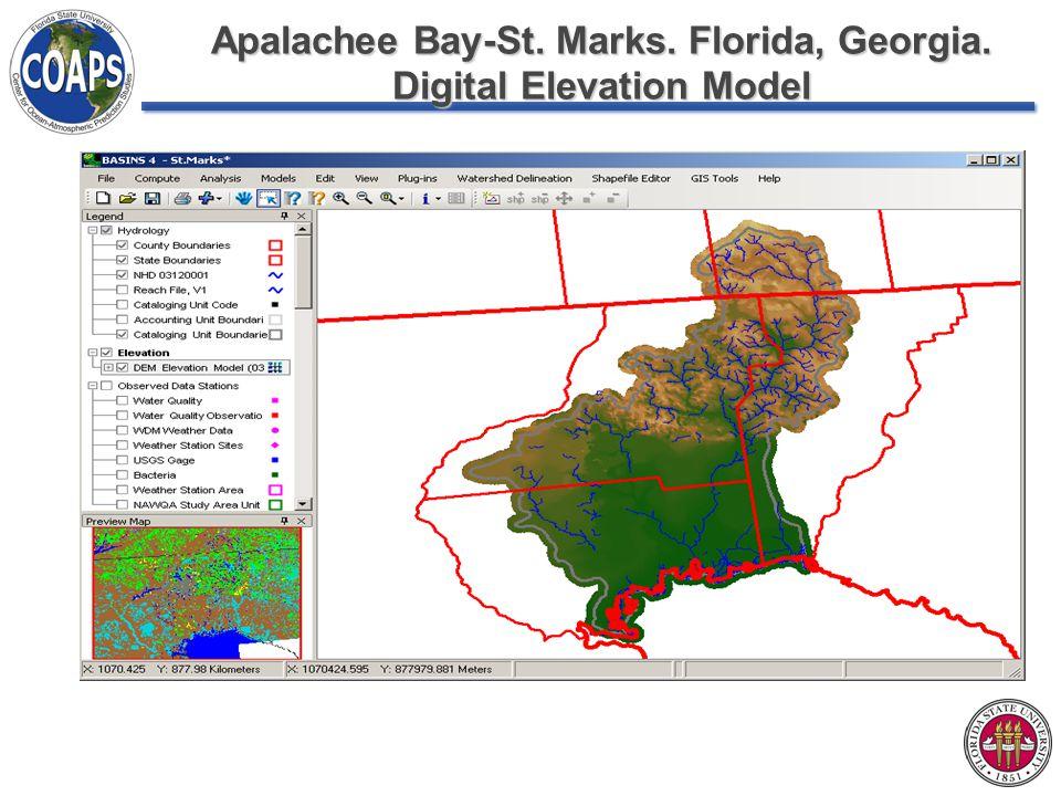 Apalachee Bay-St. Marks. Florida, Georgia. Digital Elevation Model
