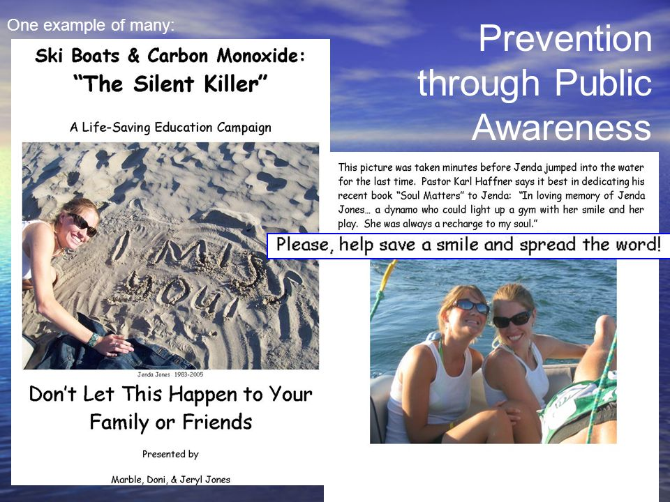 Prevention through Public Awareness One example of many: