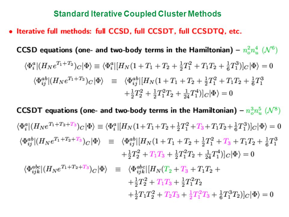 Standard Iterative Coupled Cluster Methods