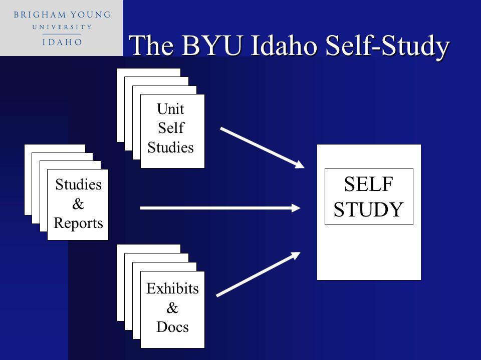 SELF STUDY Unit Self Studies Studies & Reports Exhibits & Docs The BYU Idaho Self-Study