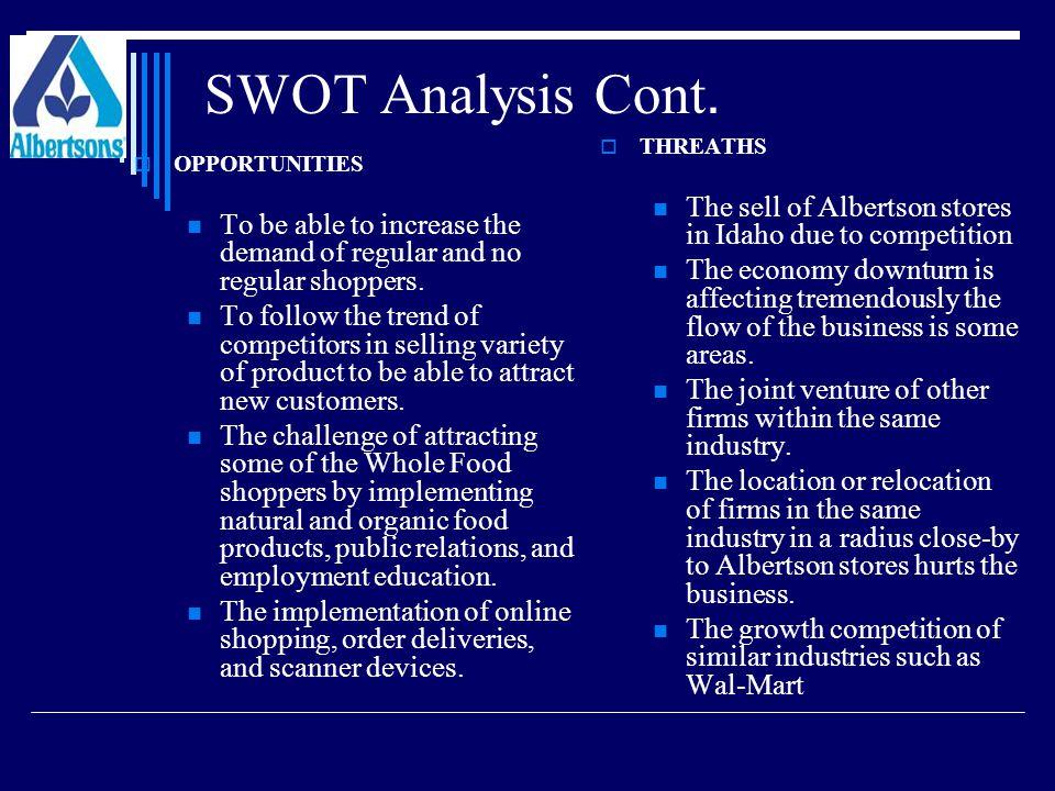 SWOT Analysis Cont.