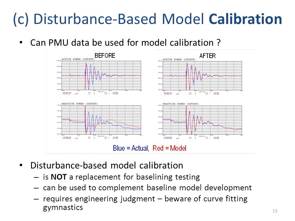 (c) Disturbance-Based Model Calibration Can PMU data be used for model calibration .