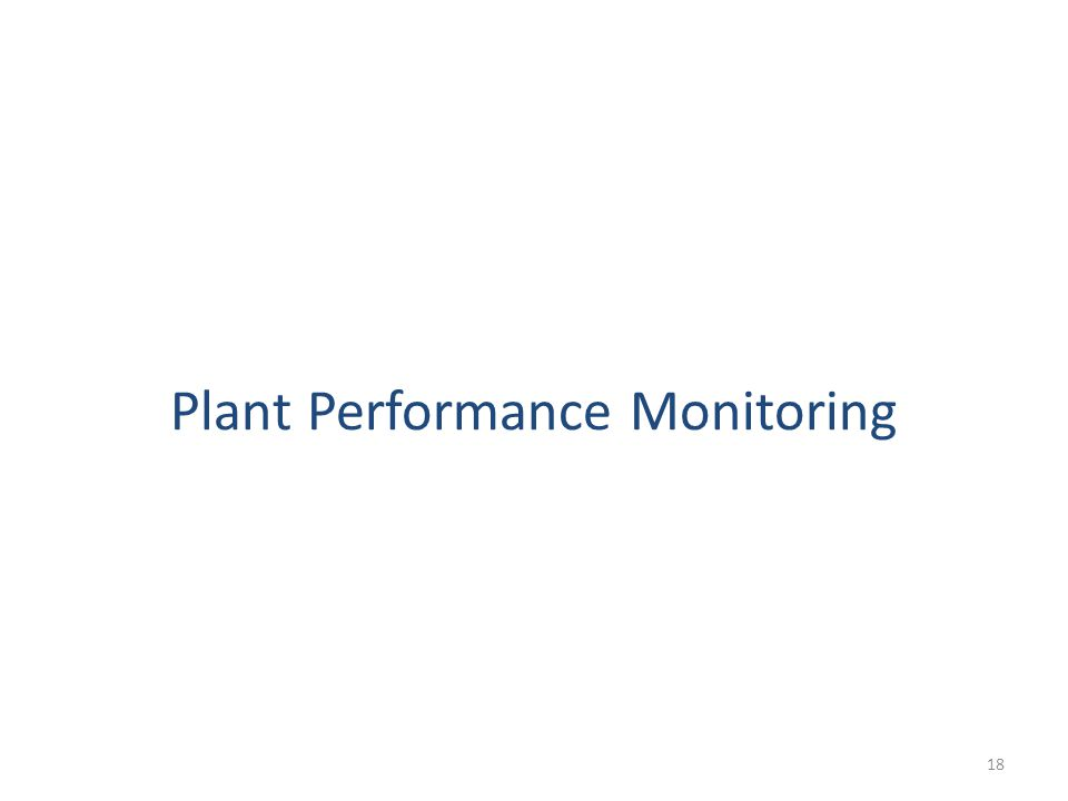 Plant Performance Monitoring 18