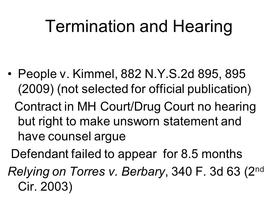 Termination and Hearing People v.
