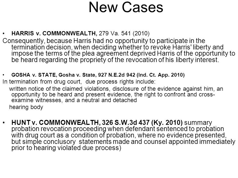 New Cases HARRIS v. COMMONWEALTH, 279 Va.