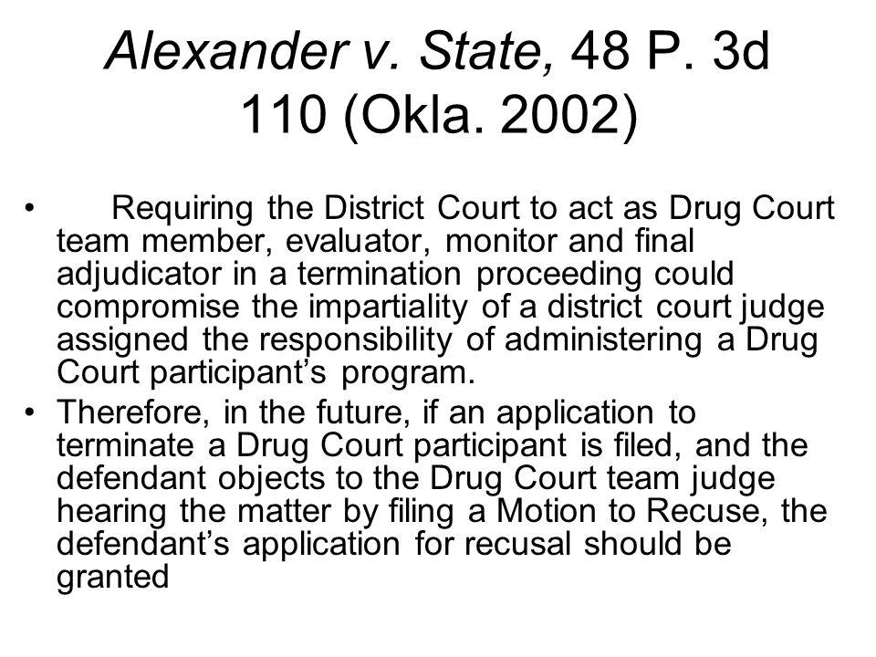 Alexander v.State, 48 P. 3d 110 (Okla.