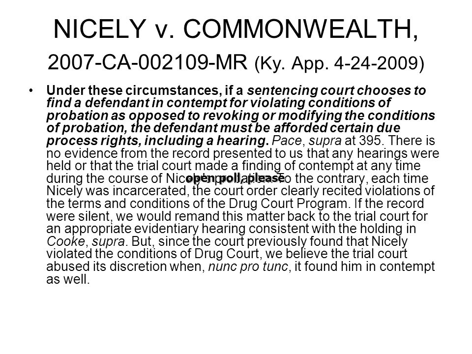 NICELY v. COMMONWEALTH, 2007-CA-002109-MR (Ky. App.