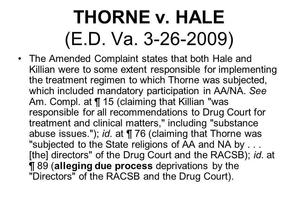 THORNE v. HALE (E.D. Va.