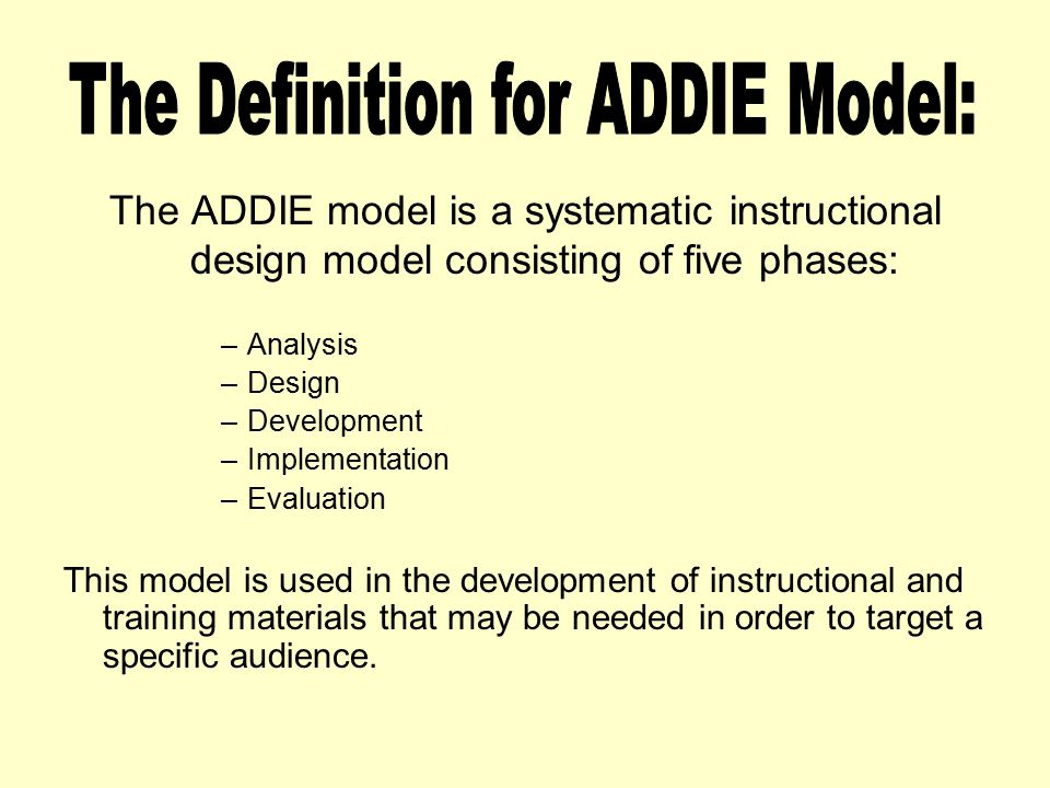 1.Learning Theories Knowledgebase.2009, August. ADDIE Model at Learning- Theories.com.