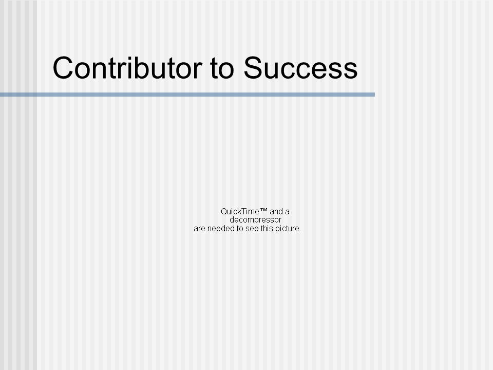 Contributor to Success