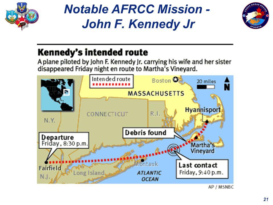 21 Notable AFRCC Mission - John F. Kennedy Jr