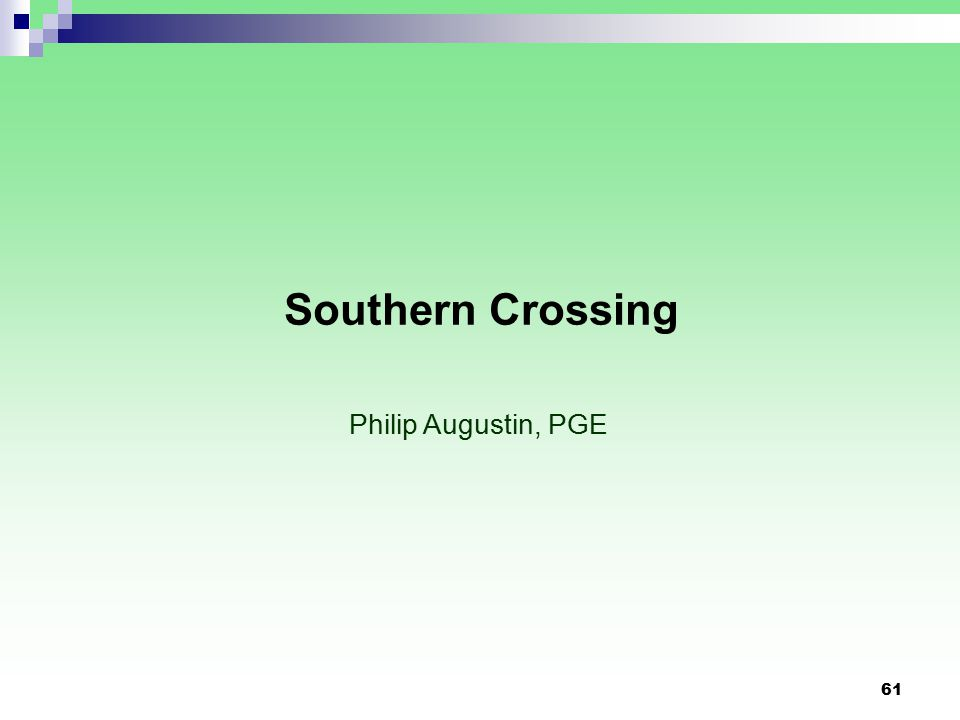 61 Southern Crossing Philip Augustin, PGE