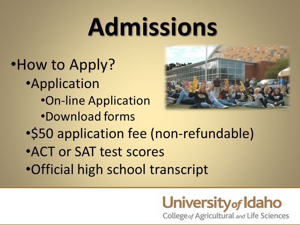 Admissions How to Apply.