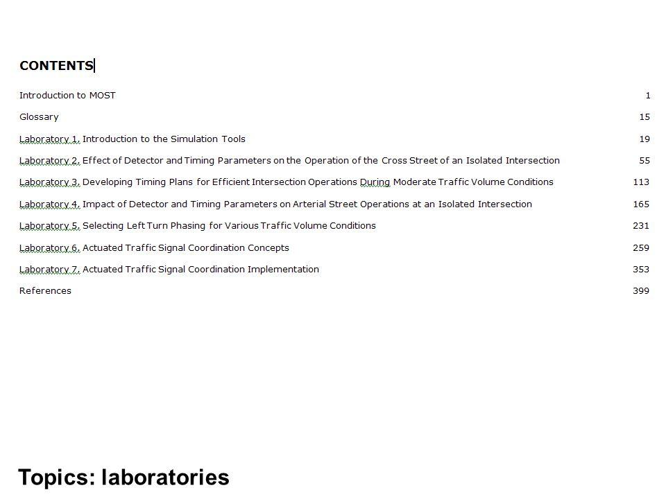 Topics: laboratories