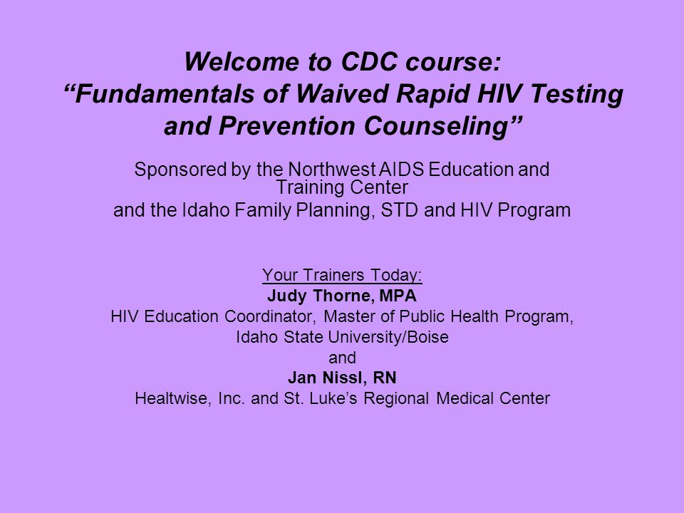 Why advocate for rapid HIV testing?