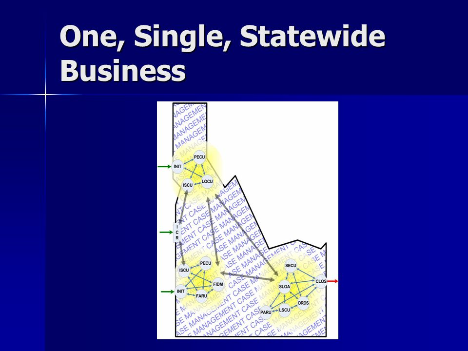 One, Single, Statewide Business