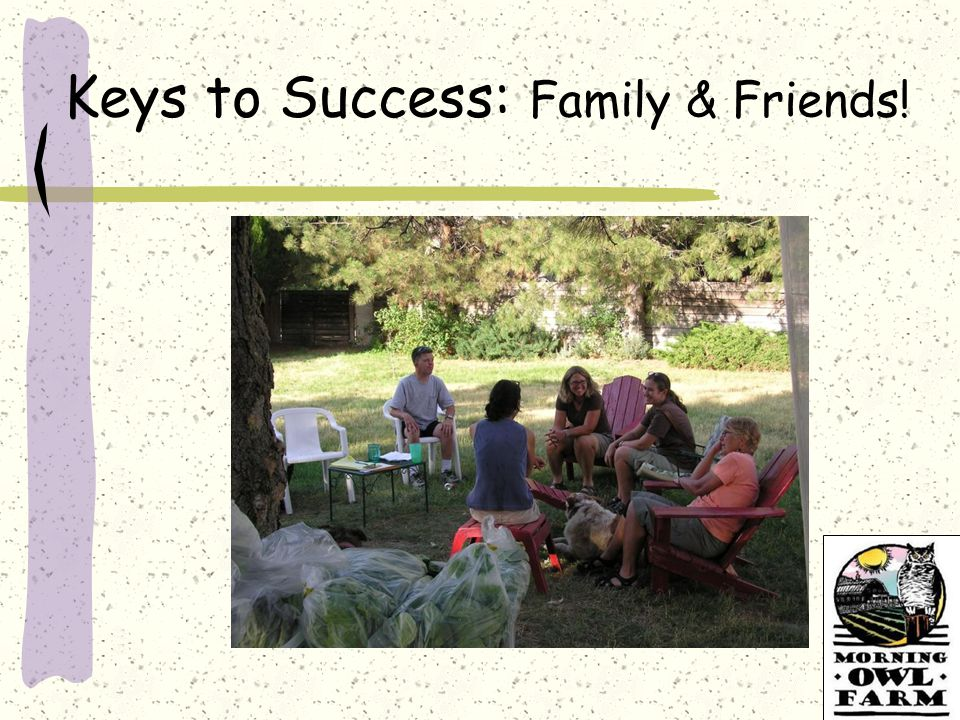 Keys to Success: Family & Friends!