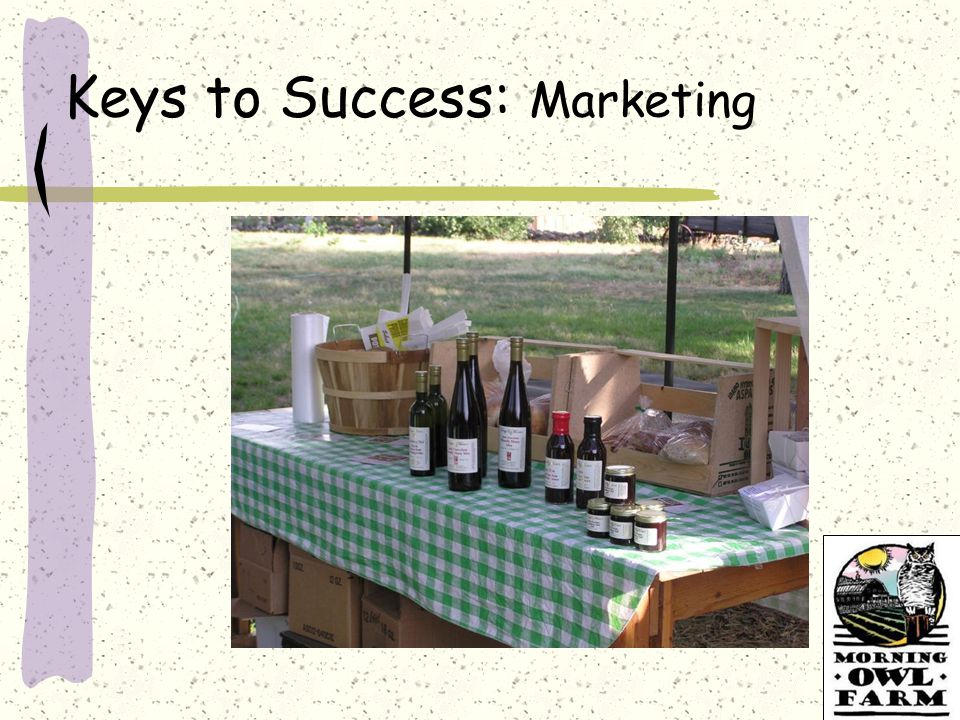 Keys to Success: Marketing
