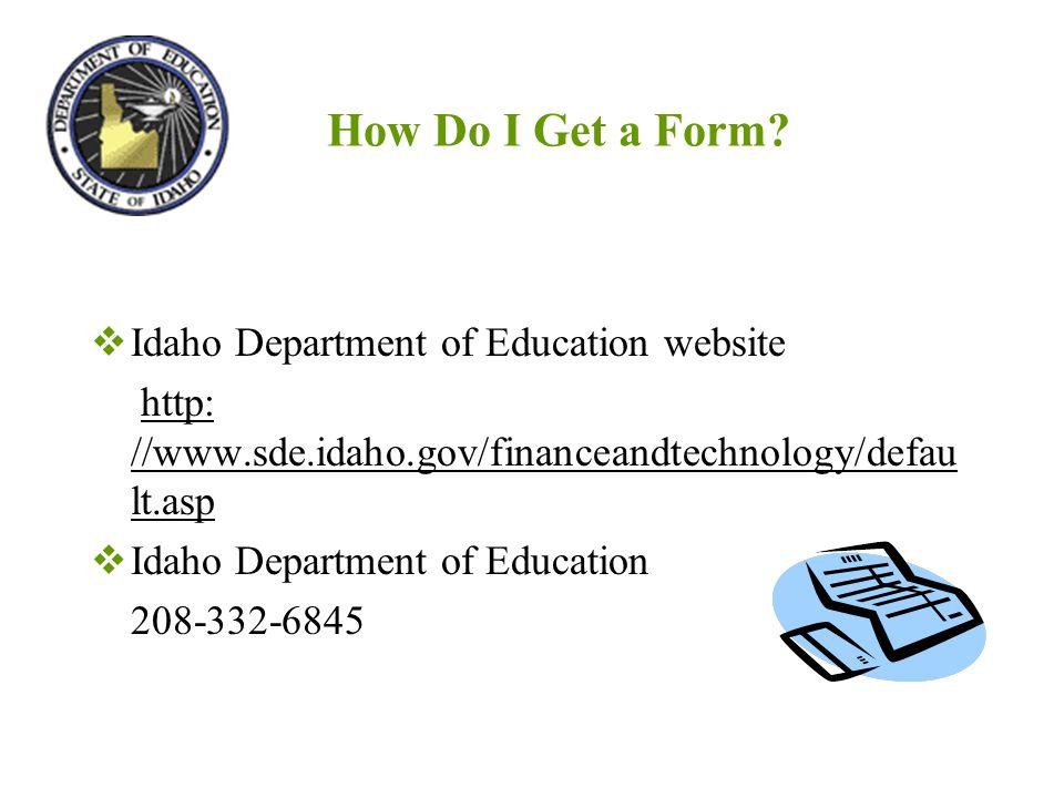 How Do I Get a Form.