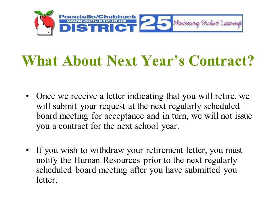 What About Next Year's Contract.