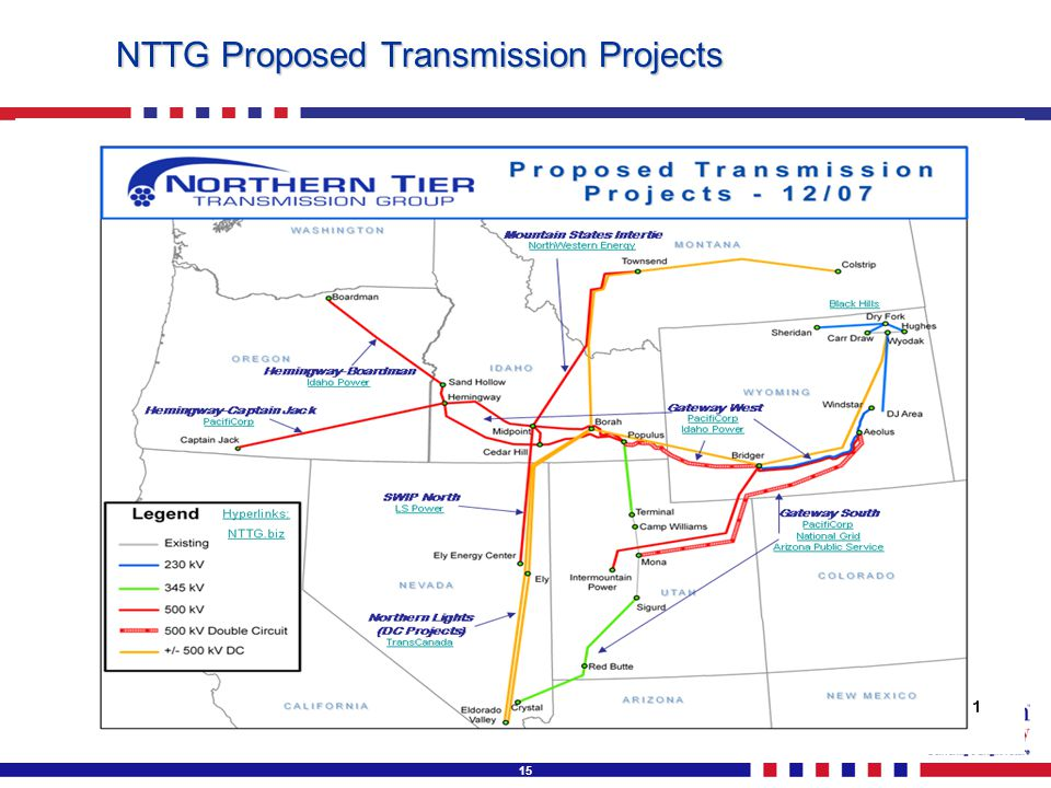 15 NTTG Proposed Transmission Projects
