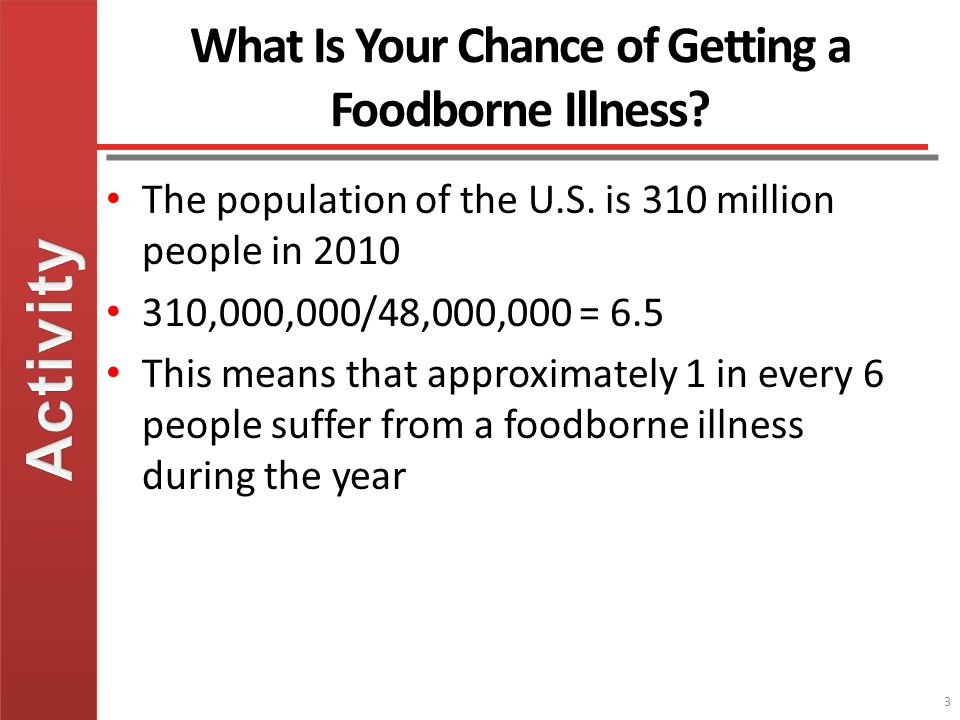 What Is Your Chance of Getting a Foodborne Illness.