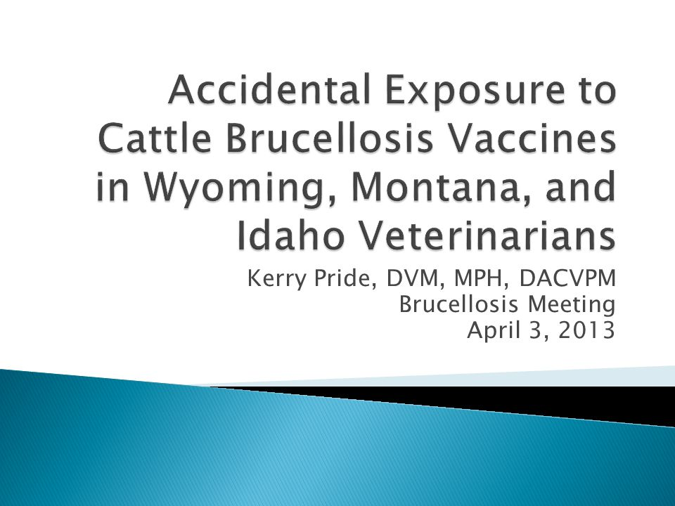 12.5% respondents had employee with known exposure to either or both vaccines ◦ Needle sticks 9 exposures ◦ Eye splashes 8 exposures ◦ Abortive material 2 exposures ◦ Wound splash 1 exposure  None resulted in clinical symptoms