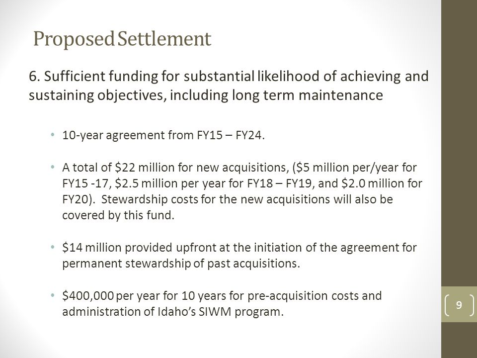Next Steps BPA and Idaho will continue refining the draft settlement agreement and consider public comments.