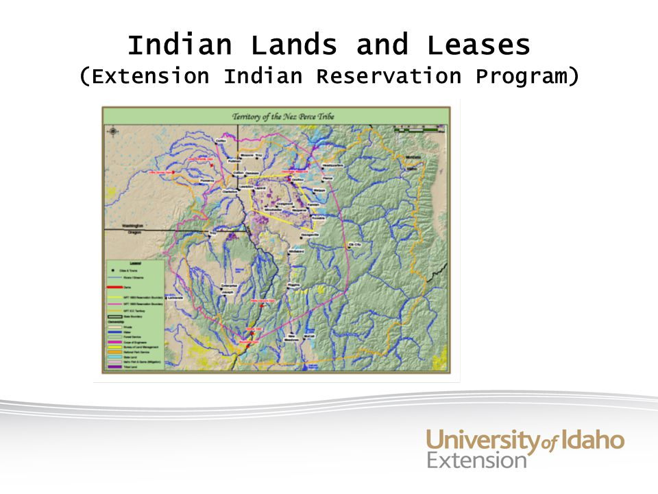 Indian Lands and Leases (Extension Indian Reservation Program)