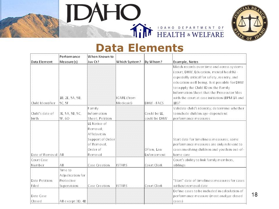 Data Elements 18