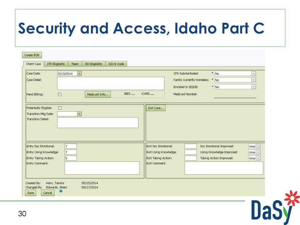 Security and Access, Idaho Part C 30