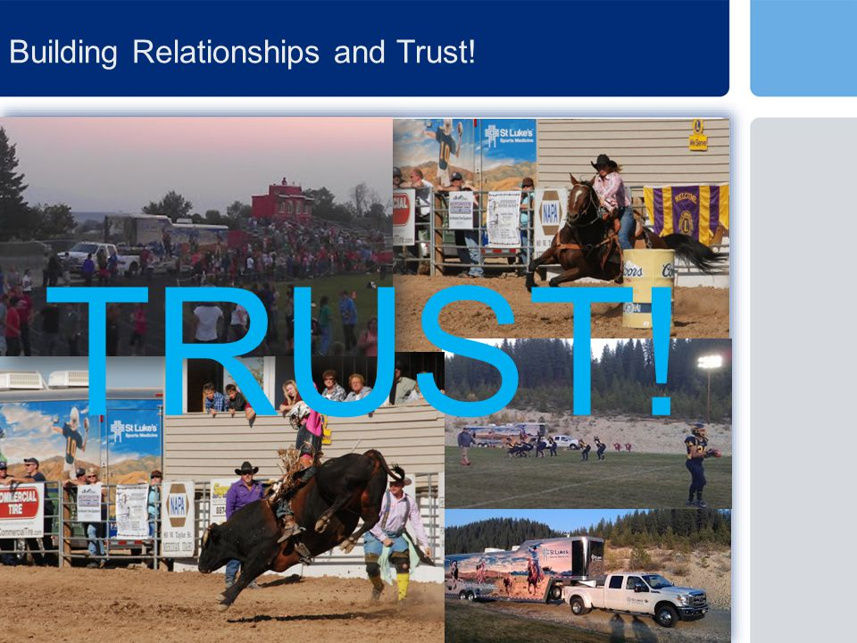 Building Relationships and Trust! TRUST!