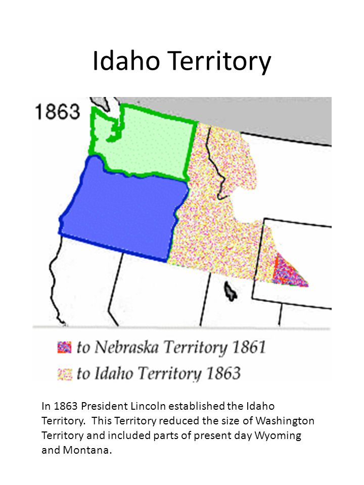 A different map of the original Idaho Territory in 1863