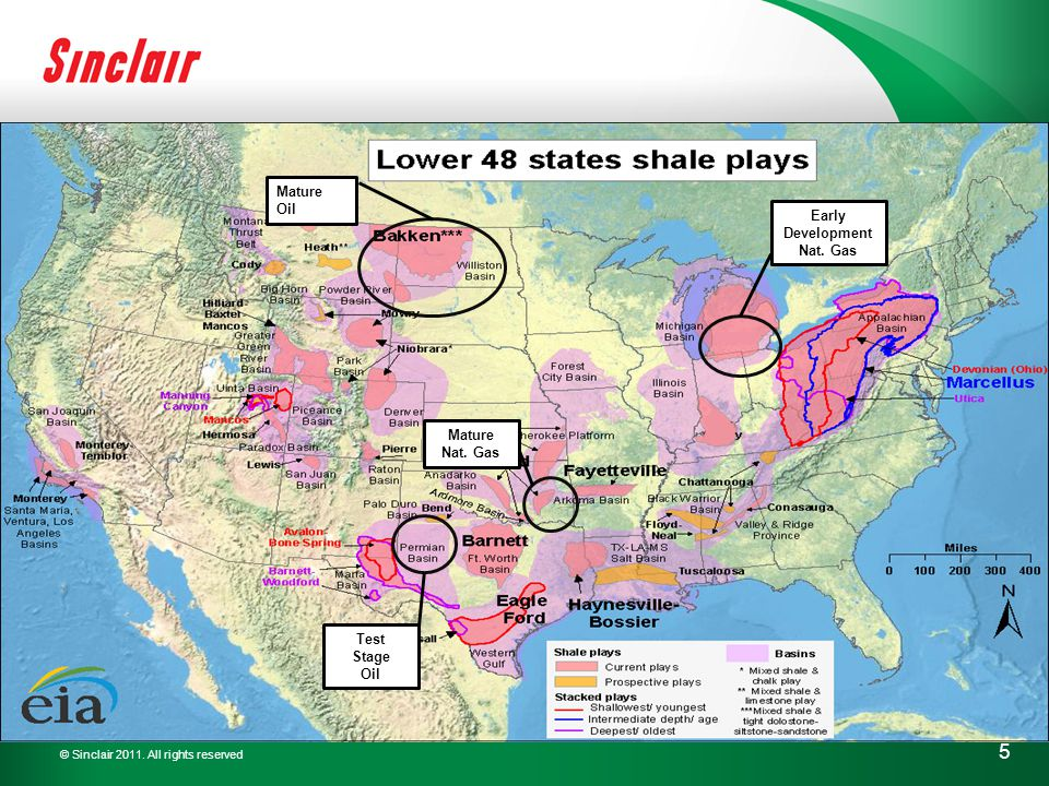 © Sinclair 2011. All rights reserved 5 Mature Oil Early Development Nat.