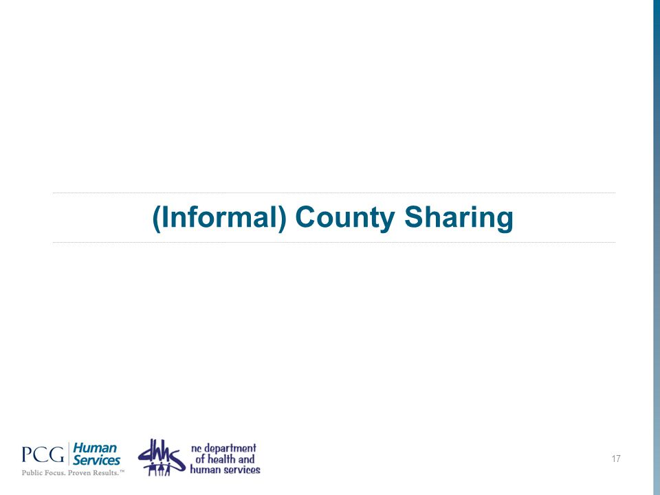 (Informal) County Sharing 17