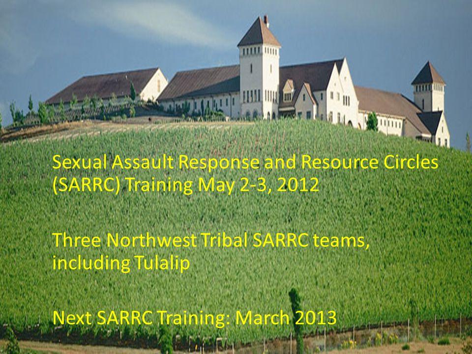 Sexual Assault Response and Resource Circles (SARRC) Training May 2-3, 2012 Three Northwest Tribal SARRC teams, including Tulalip Next SARRC Training:
