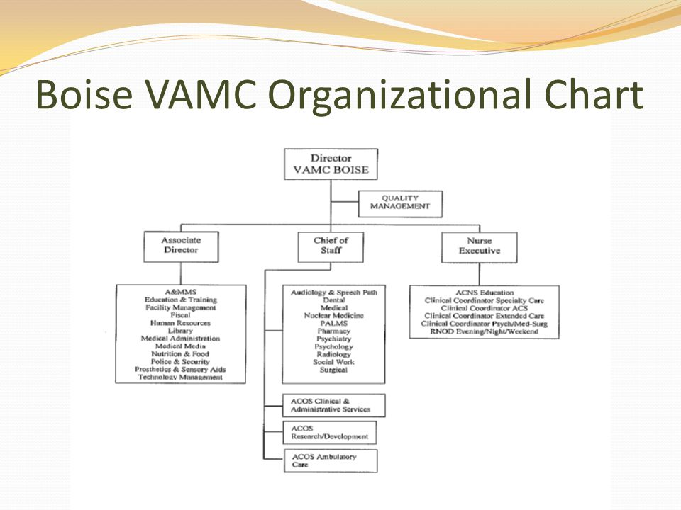 Boise VAMC Organizational Chart