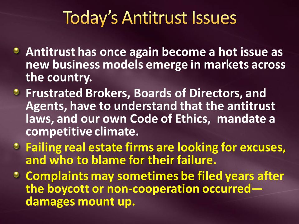 Antitrust has once again become a hot issue as new business models emerge in markets across the country.