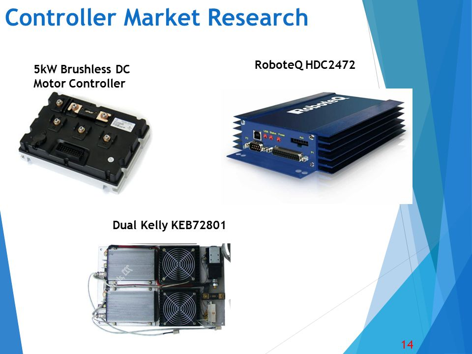 Controller Market Research 14 RoboteQ HDC2472 Dual Kelly KEB72801 5kW Brushless DC Motor Controller