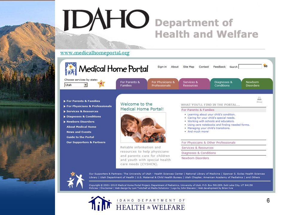 6 www.medicalhomeportal.org