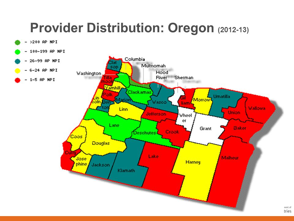 10 Provider Distribution: Idaho (2012-13)