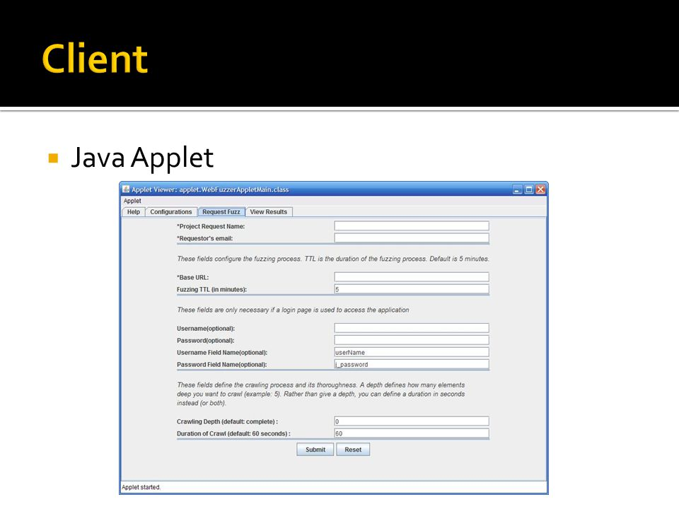  Java Applet