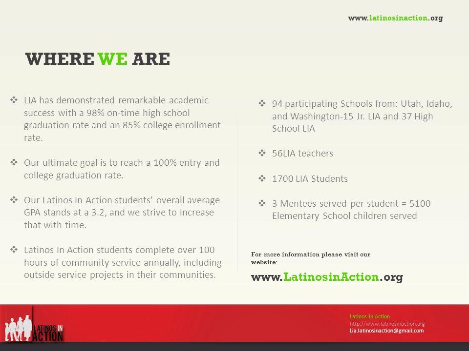  94 participating Schools from: Utah, Idaho, and Washington-15 Jr.